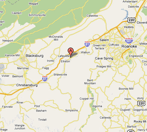 Our location in Southwest Virginia